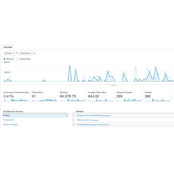 Κατασκευή E-Shop και σύνδεση Στατιστικών e-Commerce Google Analytics