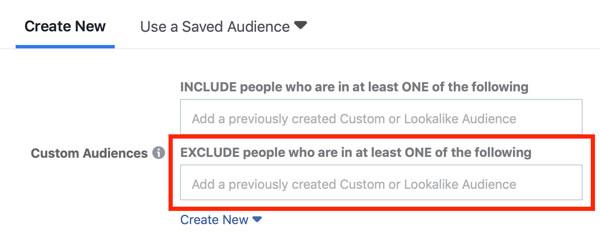 Facebook Targeting - Αποκλεισμός Προσαρμοσμένου Κοινού